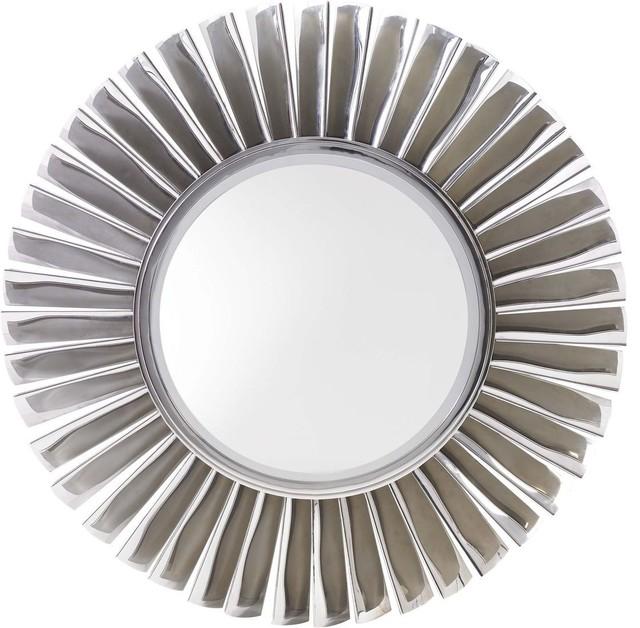 Lexington Mirage Fontaine Round Mirror Contemporary: modern round mirror