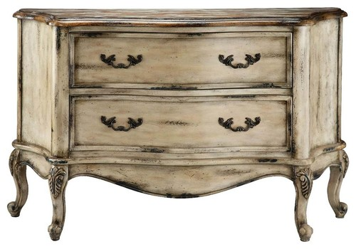 Accent Bombe Chest in Paint Splattered Distressed Finish