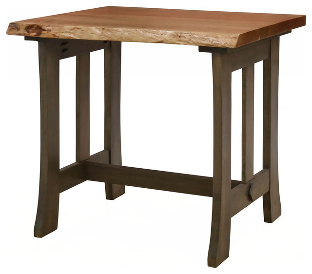Michael Anthony Furniture Cherry Live Edge End Table, ...