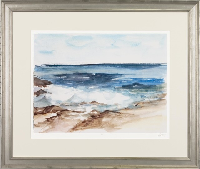 coastal watercolor framed art print 3025x3575 beach style