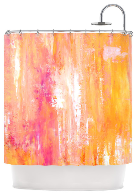 CarolLynn Tice Girls Night Out Yellow Shower Curtain Contemporary Curtains
