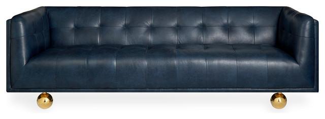 Claridge Sofa, Brogue Navy Leather