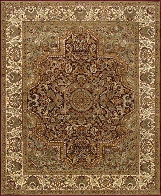Rugsville Dynasty Burgundy Beige Wool DY-1313 Rug