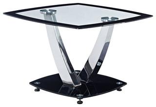 Global Furniture End Table Black