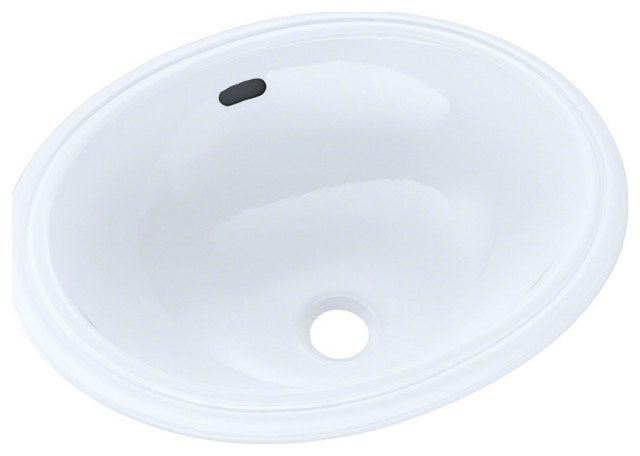 Toto Oval 15 X12 Narrow Undermount Bathroom Sink Cotton White