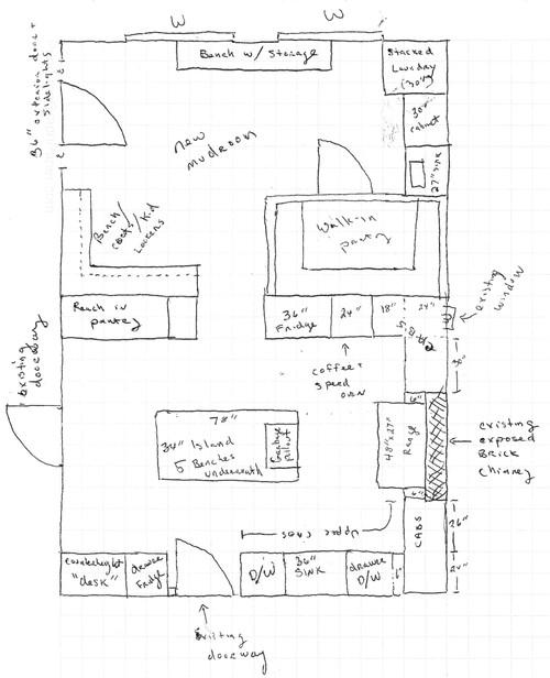 Kitchen Mudroom Addition Layout