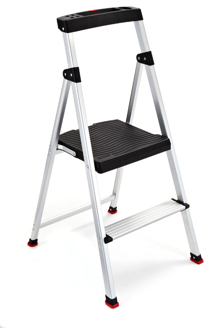 Rubbermaid 2 Step Lightweight Aluminum Step Stool With Project Top
