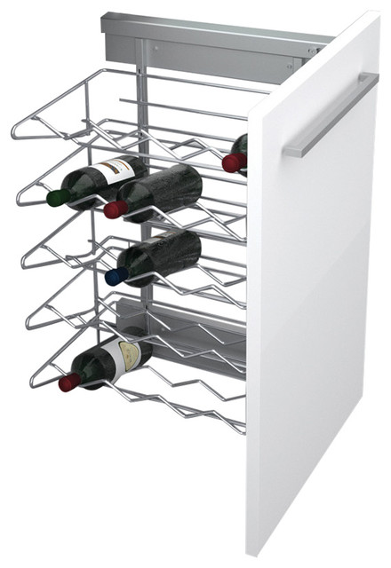 """18"""" Chrome Pull-Out Wine Rack Base Organizer With Soft ..."""