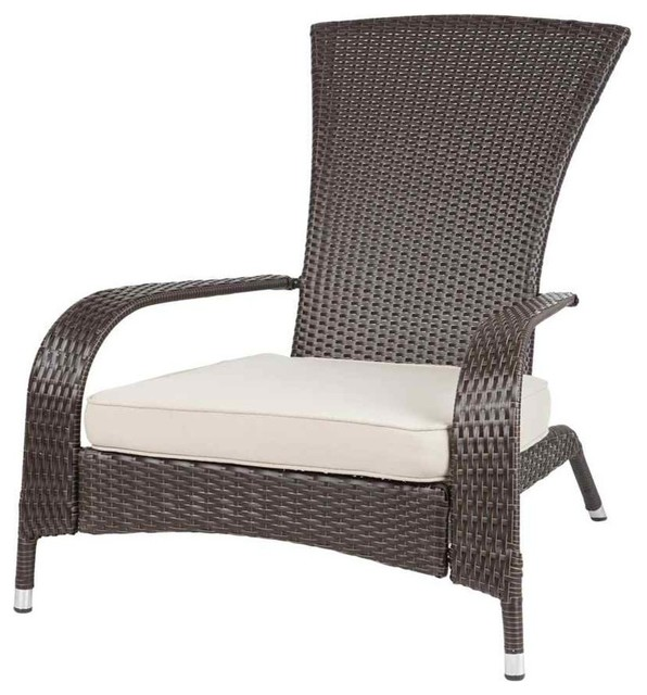 Coconino Wicker Chair Contemporary Outdoor Lounge Chairs by ShopLadder