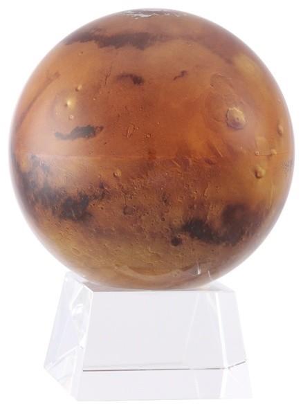 """MOVA 4.5"""" Mars Revolving Globe With Small Crystal Base"""