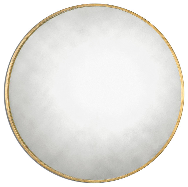 Uttermost 13887 Junius Round Flat Mirror.
