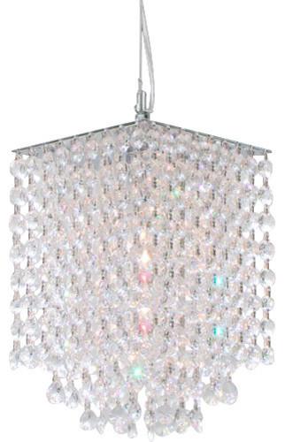 Modern Crystal Pendant Clear Chandelier