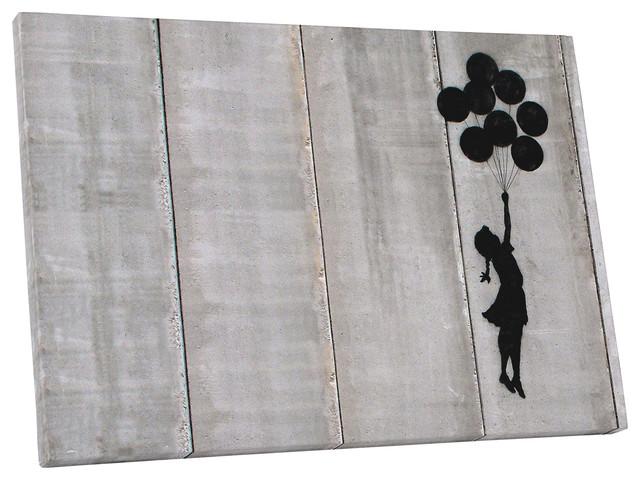 BANKSY Balloon Girl Fly Away Modern Graffiti Art Canvas Print~ 5 Sizes