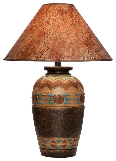 Phoebe Table Lamp With Shade Southwestern Table Lamps