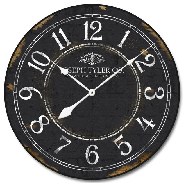 Black And White Wall Clock vintage black and white clock - wall clocks -clocks around the