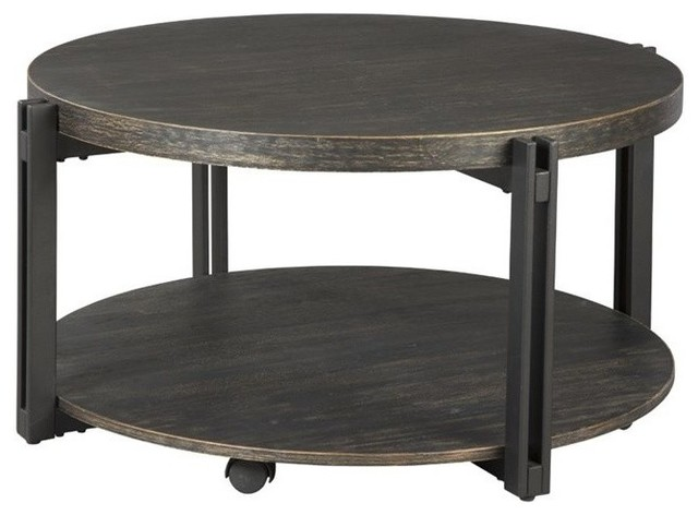 black coffee table transitional - photo #15