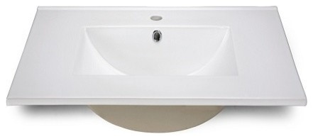 """Ryvyr Vitreous China Countertop 31"""" X 22"""" With Square Bowl."""