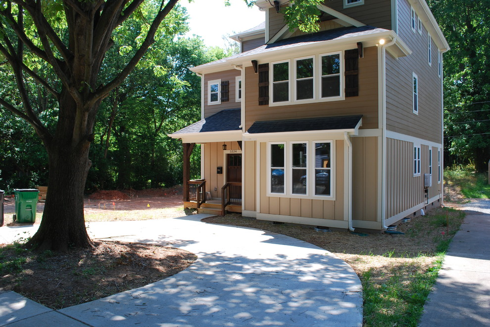 Noda, Charlotte, Infill Project:  tall house on a small lot.