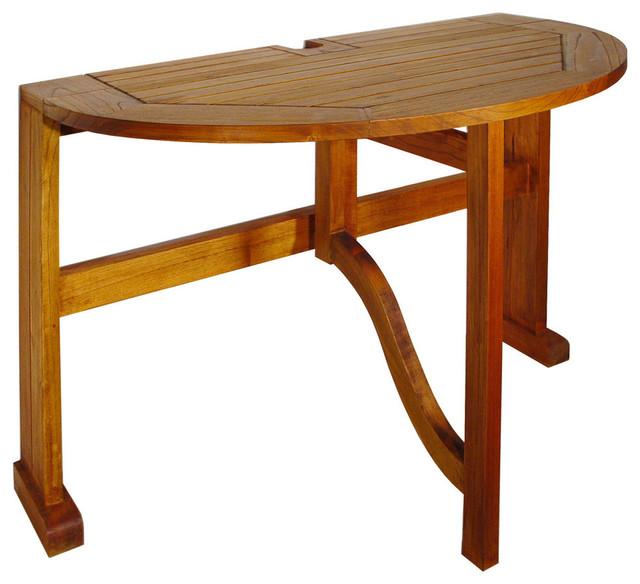 Merveilleux Terrace Mates 36 Caleo Half Round Drop Leaf Gate Leg Table