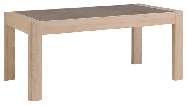 Chris Dining Table With Extensions Structured Larch Wood