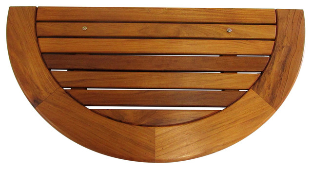 Half Round Teak Wood Table Top Tung Oil Finished 36 Wx17 5 Dx1 Thick