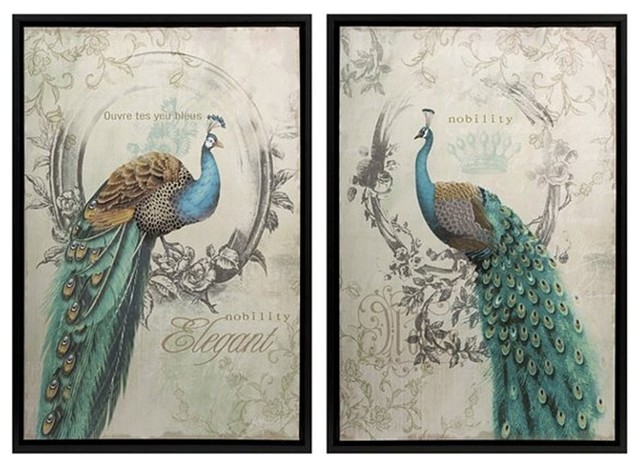 Imax Panache Peacock Art, 2-Piece Set. -1