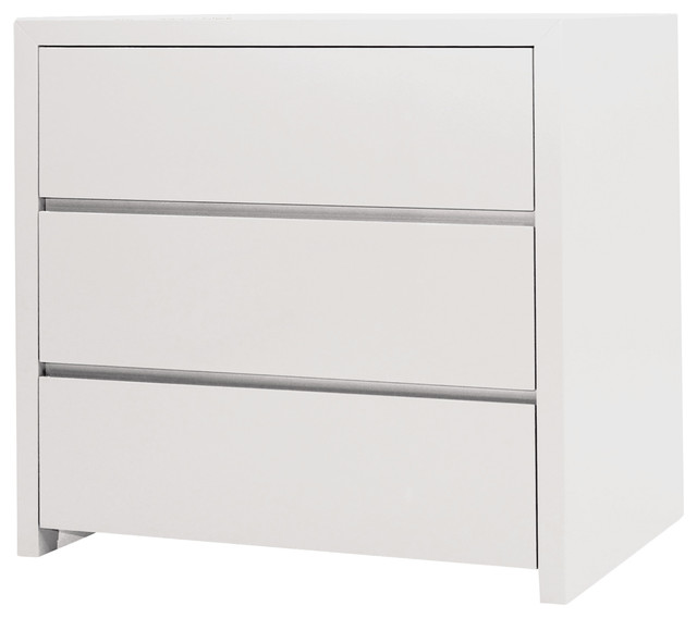 Blanche Nightstand White 3 Drawers