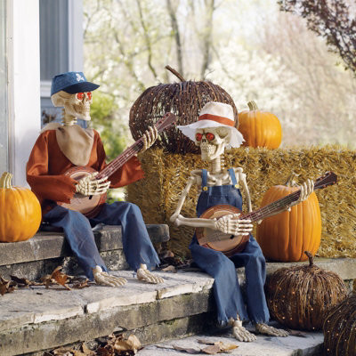 dueling banjo skeleton halloween scene halloween decorations and decor traditional holiday decorations