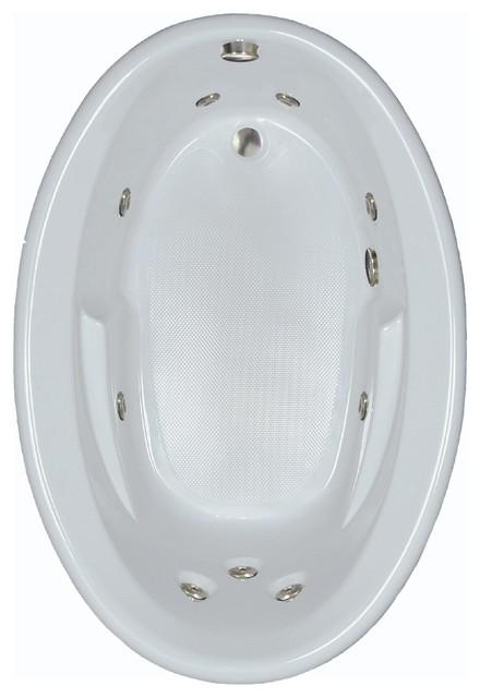 "60""l X 42""w Combination Baths Eow White Whirlpool Bath."
