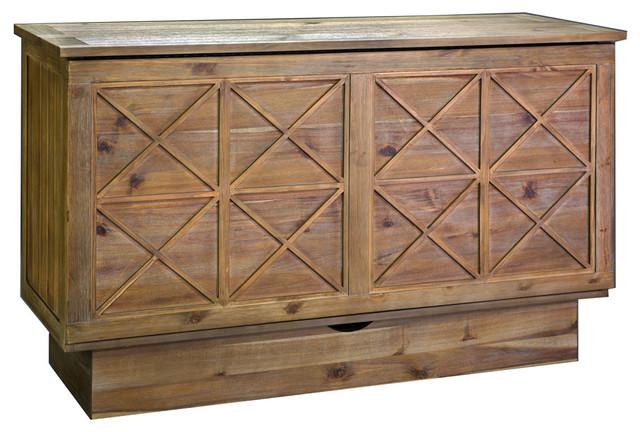 essex queen murphy cabinet bed asharason - transitional