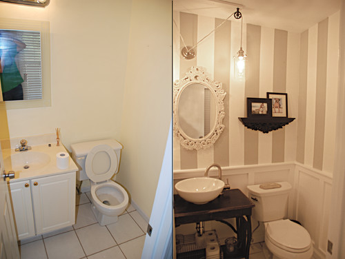 Our New Half Bathroom Before And After