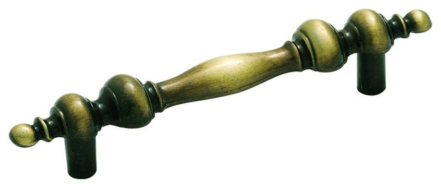 """Pull, 3"""" CTC, Antique Brass - Traditional - Cabinet And Drawer Handle Pulls - by Gobs of Knobs"""