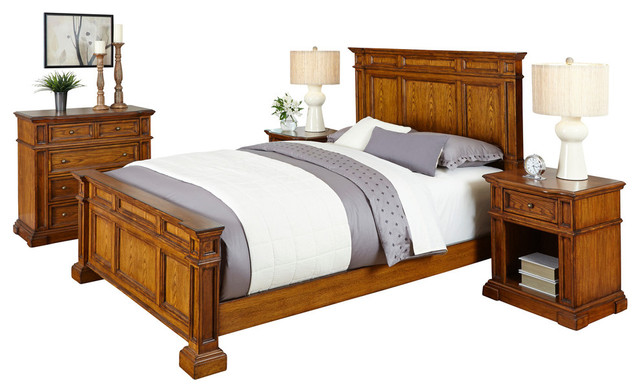 americana king bed 2 nightstands and chest