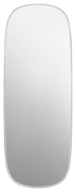 Linnea Silver Wall Mirror 120x45 Cm Contemporary Mirrors By Innova
