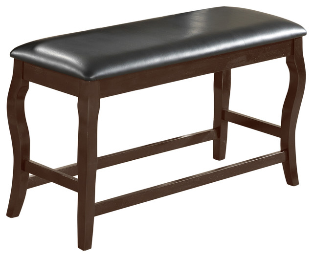 Betty Counter Height Bench, Cherry.