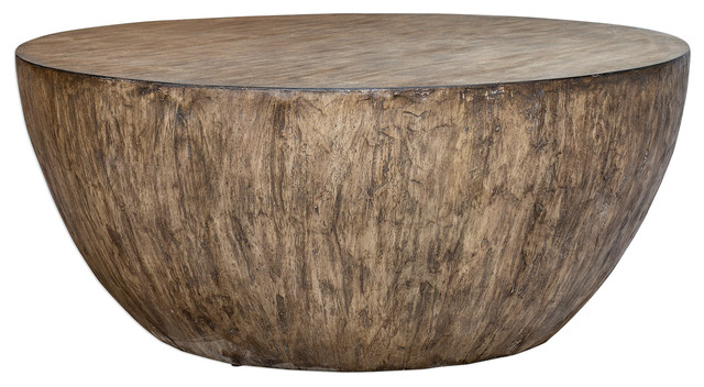 Lark Round Wood Coffee Table Farmhouse Coffee Tables By Ownax