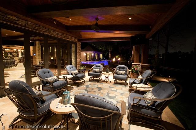 Home design - transitional home design idea in Houston