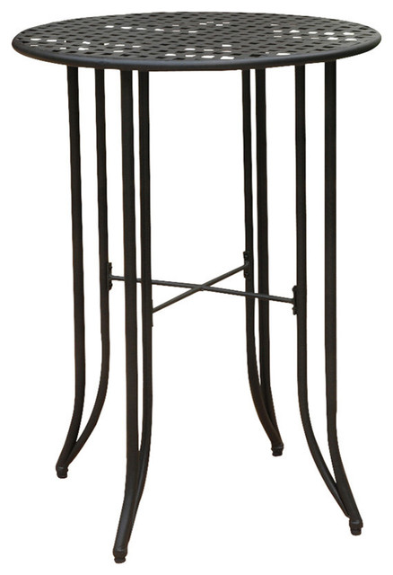 Mandalay Iron Bar Height Round Table Industrial