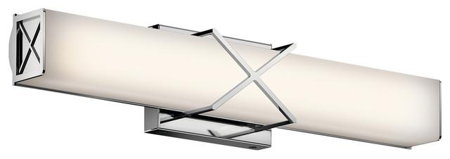 "Kichler Lighting 45657chled Trinsic Chrome 22"" Linear Vanity."