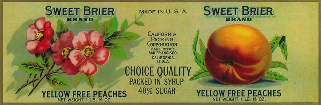 """""""Sweet Brier Peach Label"""" Print, 9""""x12"""""""