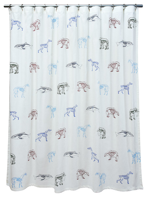 fabric shower curtain scientific animal names kids 72inch by 72inch