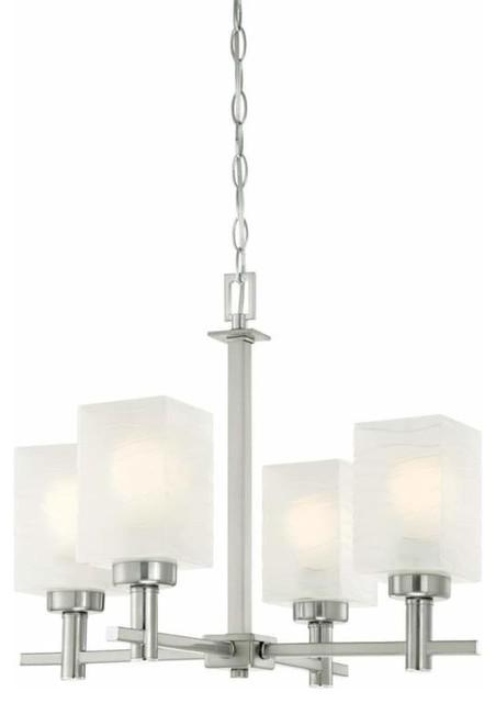 low priced b9282 558ef Westinghouse 6302400 Ingram 4 Light Shaded Chandelier