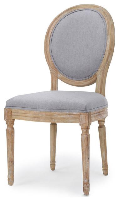 Hawthorne Fabric Dining Chairs, Light Gray, Set of 2