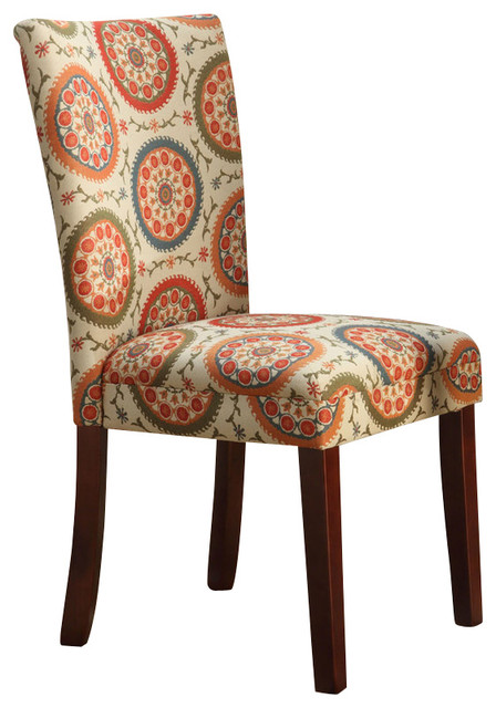suzani parsons chairs set of 2 multicolor