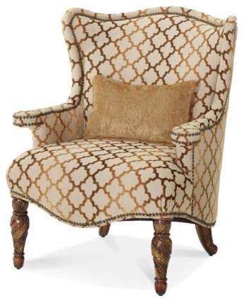 Villa Valencia Wing Chair by Michael Amini