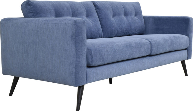 Cortado Sofa Navy Blue Midcentury Sofas By Hedgeapple