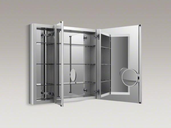"""KOHLER Verdera(TM) 40"""" W x 30"""" H aluminum medicine cabinet ..."""