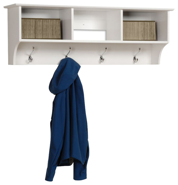 Sonoma Entryway Cubby Shelf White Traditional Wall Hooks