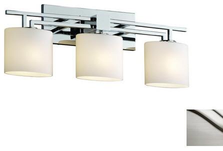 Justice Design Group FSN 8703 30 OPAL Aero 3 Light Bathroom Vanity Light