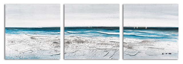 """""""Before the Rain Falls"""" Hand Painted Canvas Art, 60""""x20"""""""